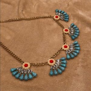 Jewelry - Statement necklace, torquoise and red